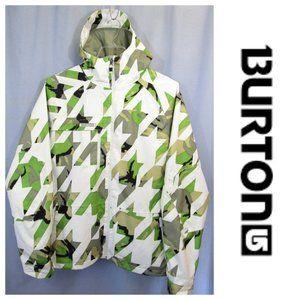 Burton Dryride Snowboard Jacket White Cammo Sz M